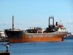 Albanese ship abandoned on the coast